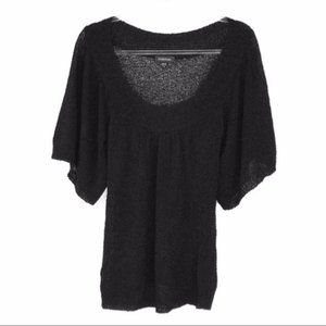 Bebe (XS) Black Loose Knit Stretchy Sweater Top